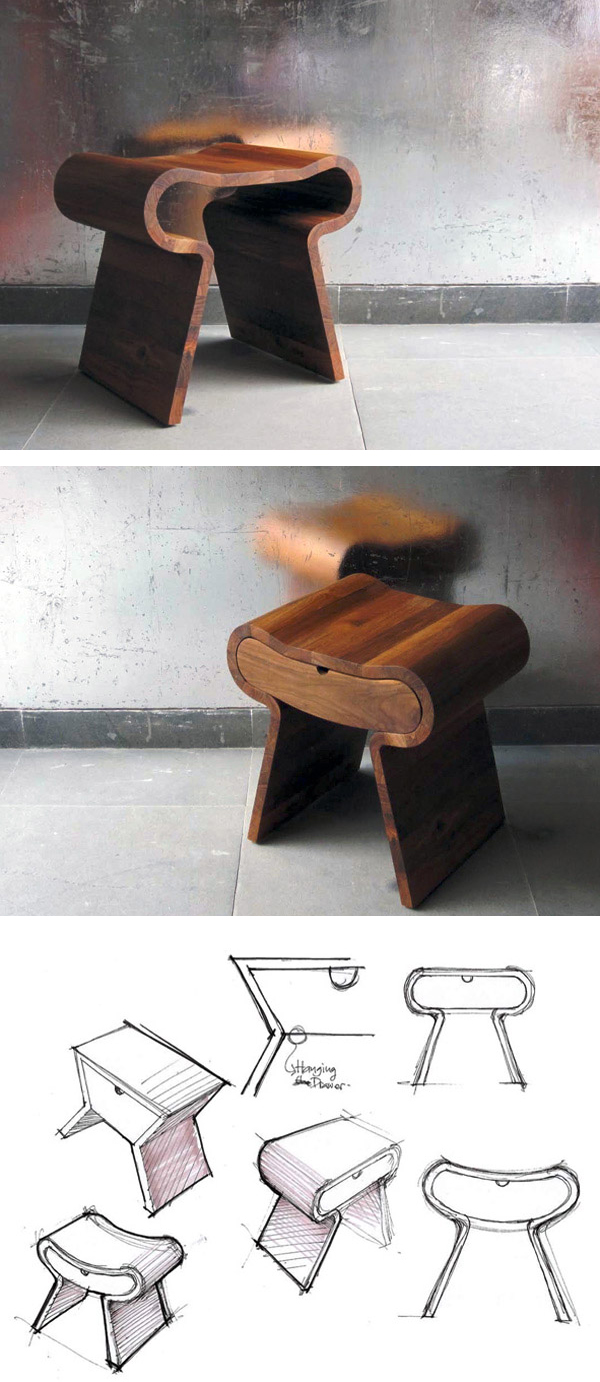 Smile Stool by Studio Hindia via Inhabitat
