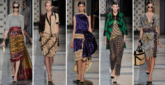 Dries Van Noten 2010 Collection, featuring Batik Dyeing techniques