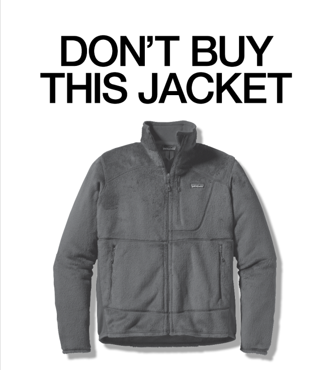 Don't Buy This Jacket advertisement within the November New York Times