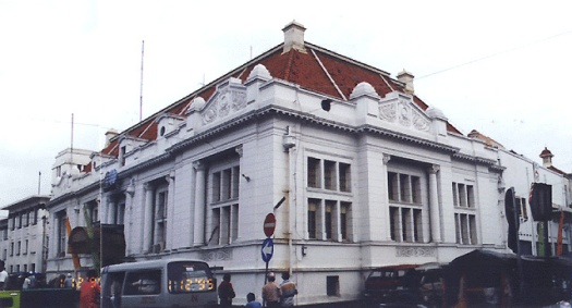 The Dutch colonial style as seen in an East Javanese Bank Office in Surabaya.  source:http://corbu2.caed.kent.edu/architronic/v5n3/v5n3.04a.html