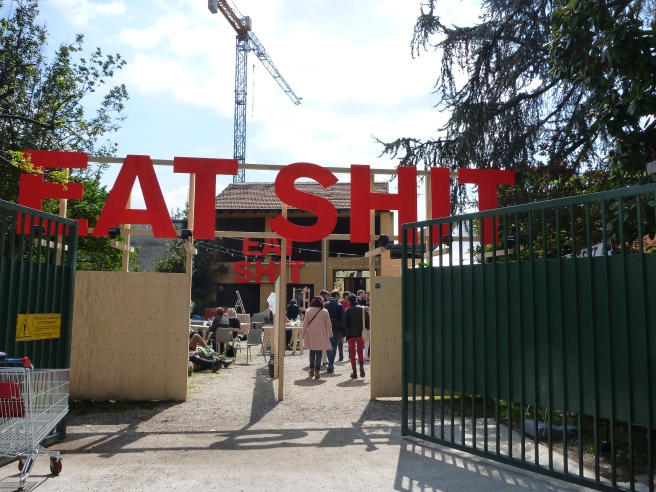 Fig_1_Design Academy Eindhoven 'Eat Shit' exhibition entrance gate, Milan 2015