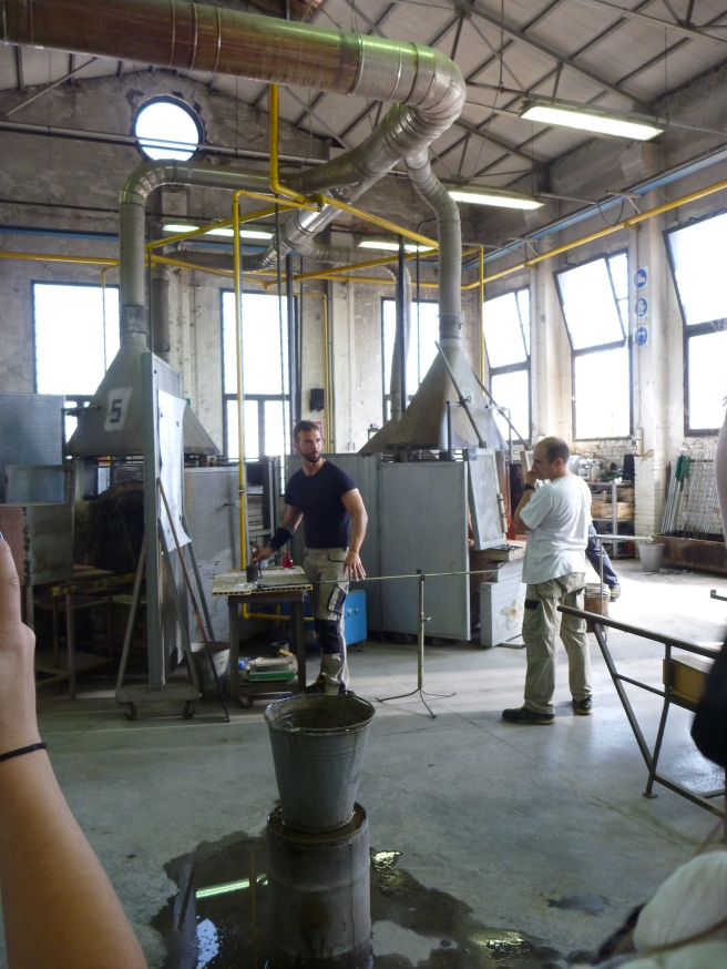Fig 1: Murano Glass Blowing Factory Visit