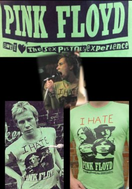 Sex Pistols singer wearing the