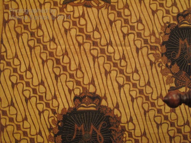 Batik Barong, worn by the King. Batik motif of Parang, reserved for the royal courts of Yogyakarta and Surakarta.
