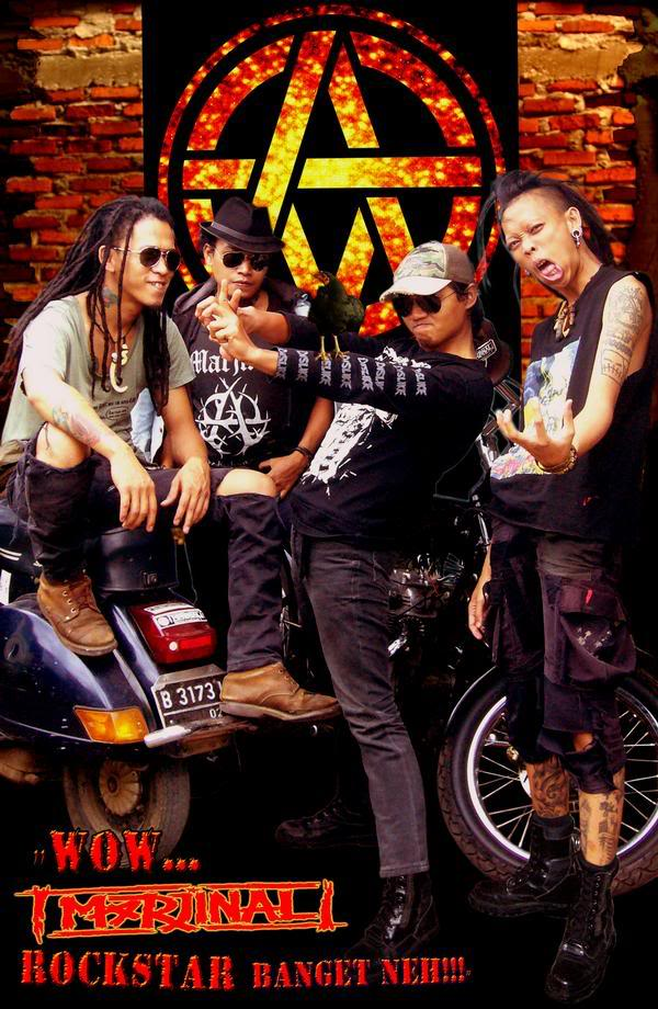 Marjinal group are a punk band and punk arts collective based in Srengsengsawah on the outskirts of Jakarta