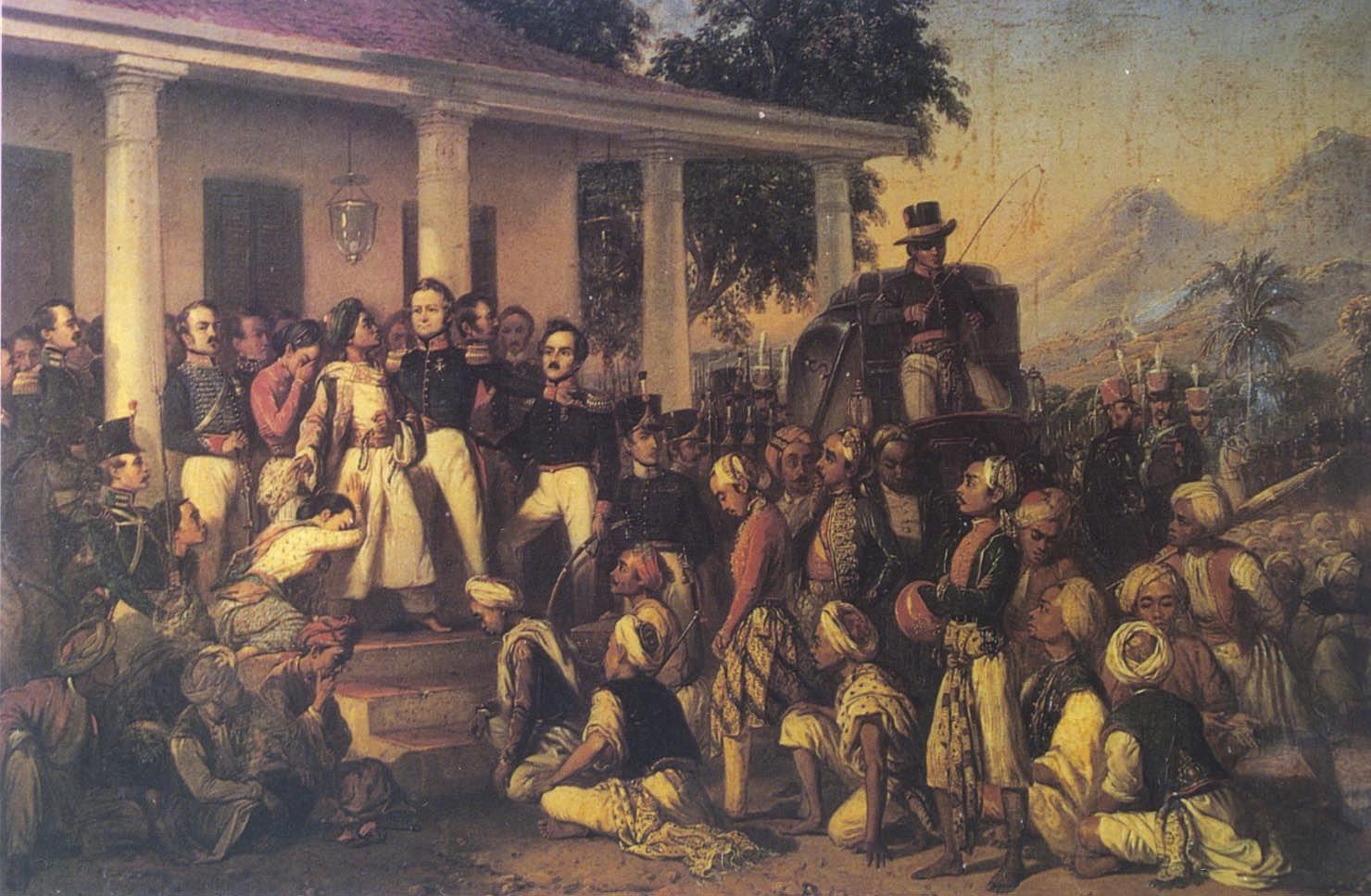 R Saleh, Penangkapan P Diponegoro 1957.jpg
