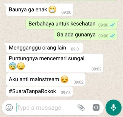 We were sent a final screen shot of the actual messages typed up from Ancha to correct any grammatical errors. (Rachfiansyah, A. 2018.)